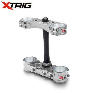 Xtrig Triple Clamp Set Honda CRF250 2014 CRF450 13-14 M12 LTD Silver (Complete With Bar Mounts)