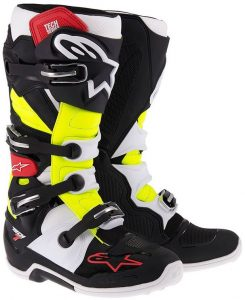 2018 Alpinestars Tech 7 Boot Black/Red/Yellow