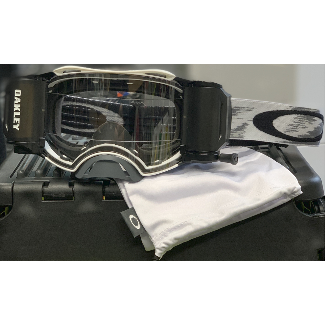 Oakley airbrake mx roll-off goggle matte white speed - airbrake roll off white