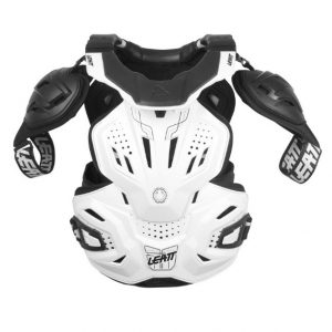 2018 Leatt Fusion 3.0 Adult Neck Brace & Body Protector White