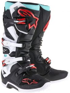 2018 Alpinestars Tech 7 Boot Black/White/Turquoise