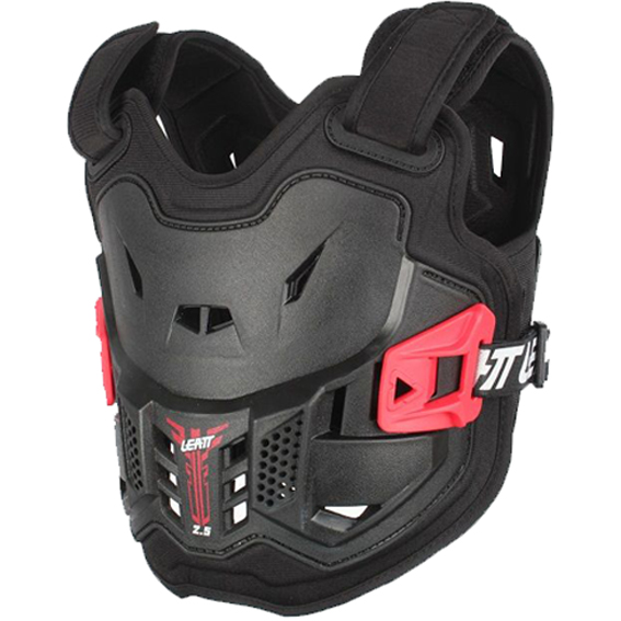 Leatt 2. 5 mini kids chest protector black - chest protector 2. 5 kids black side 1