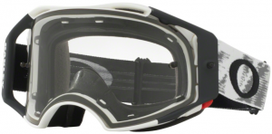 Oakley Airbrake MX Goggle Matte White Speed – Clear Lens