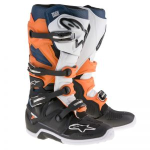 Alpinestars Tech 7 Boot Black/Orange/White/Blue