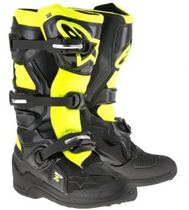 2018 Alpinestars Tech 7s YOUTH Boot Black/Yellow Flo