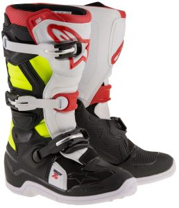 2018 Alpinestars Tech 7s YOUTH Boot Black/Red/Yellow Flo