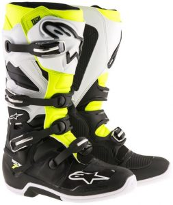 2018 Alpinestars Tech 7 Enduro Boot Black/White/Yellow Flo
