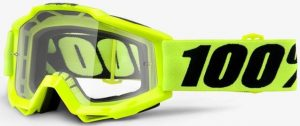 100% Accuri YOUTH Goggle Fluo Yellow – Clear Lens