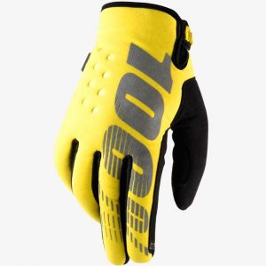 100% YOUTH Brisker Glove Neon Yellow