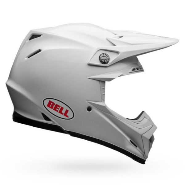 Bell Moto-9 Carbon Flex Helmet Solid White - bell moto 9 flex dirt motorcycle helmet gloss white right