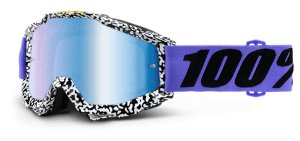 100% Accuri Goggle Brentwood – Blue Mirror Lens + Clear Lens