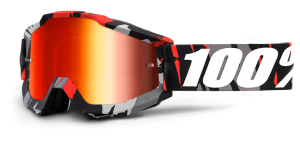 100% Accuri Goggle Magemo – Red Mirror Lens + Clear Lens