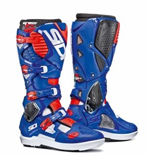 2018 Sidi Crossfire 3 SRS Boots White/Blue/Red Flo