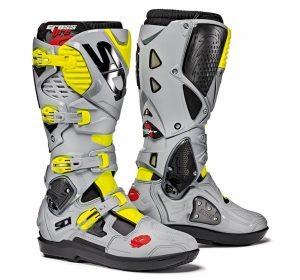 2018 Sidi Crossfire 3 SRS Boots Black/Ash/Yellow Flo