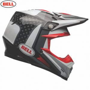 2018 Bell Moto-9 Carbon Flex Vice Helmet Black/White