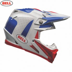 2018 Bell Moto-9 Carbon Flex Vice Helmet Blue/Red