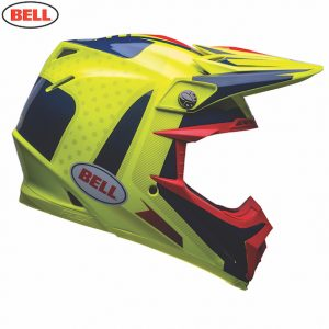 2018 Bell Moto-9 Carbon Flex Vice Helmet Blue/Yellow