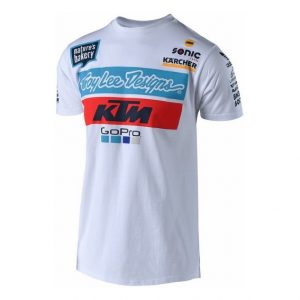 2018 Troy Lee KTM Team T Shirt White
