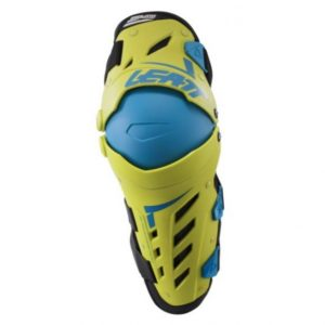 2018 Leatt Dual Axis Knee Guards Pair Adult Lime/Blue