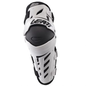 2018 Leatt Dual Axis Knee Guards Pair Adult White/Black