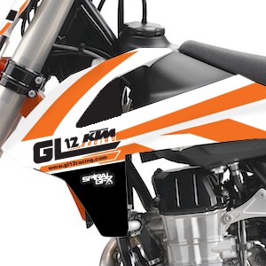 2017 GL12 Racing KTM Team Graphics Kit Complete With Custom Backgrounds