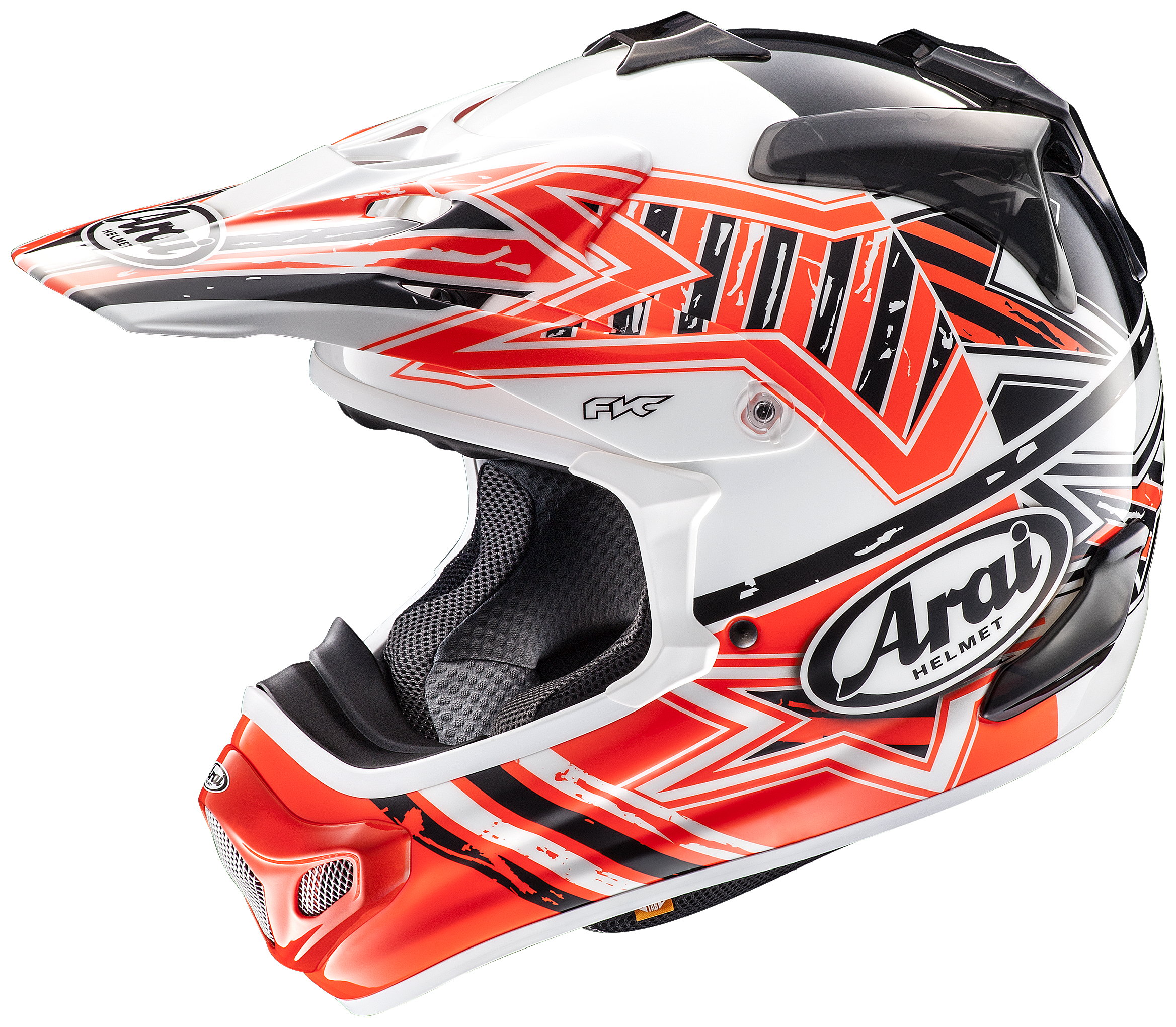 arai mx v star helmet orange arai motocross and enduro. Black Bedroom Furniture Sets. Home Design Ideas