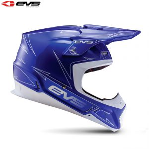 2017 EVS T5 Pinner Adult Helmet Blue/White