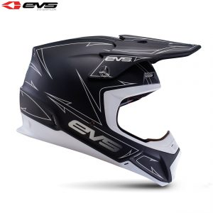 2017 EVS T5 Pinner Adult Helmet Matte Black/White