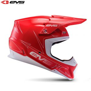 2017 EVS T5 Pinner Adult Helmet Red/White
