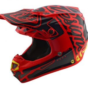 2018 Troy Lee SE4 Polyacrylite Factory Helmet Red