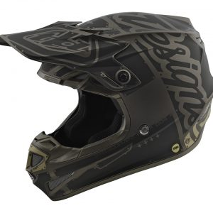 2018 Troy Lee SE4 Polyacrylite Factory Helmet Matte Grey
