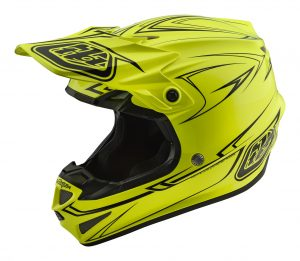 2018 Troy Lee SE4 Polyacrylite Pinstripe Helmet Yellow