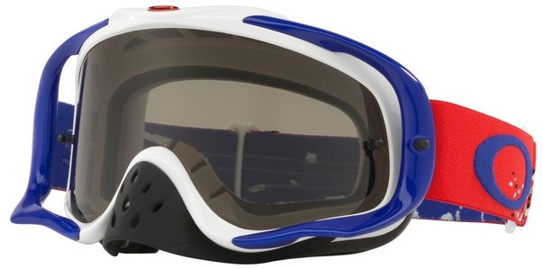 94637c97ce Oakley Crowbar Goggle Checked Finish Red White Blue - Dark Grey Lens