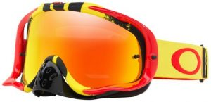 Oakley Crowbar Goggle Pinned Race Red/Yellow – Fire Iridium & Clear Lens