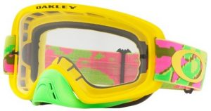 Oakley O Frame 2.0 MX Goggle Thermo Camo Pink/Yellow/Green – Clear Lens