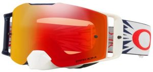 Oakley Front Line MX Goggle Hi Voltage Red/Navy – Prizm Torch Iridium Lens