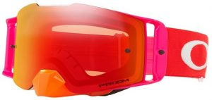 Oakley Front Line MX Goggle Pinned Race Red/Orange – Prizm Torch Iridium Lens