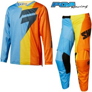 2018 Shift YOUTH WHITE3 Tarmac Kit Combo Orange/Blue