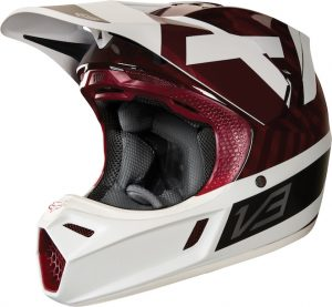 2018 Fox V3 Preest Helmet Dark Red