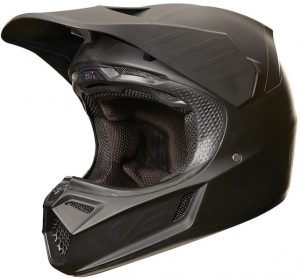 2018 Fox V3 Matte Carbon Helmet Black