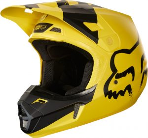 2018 Fox V2 Mastar Helmet Yellow