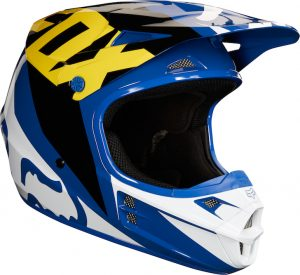 2018 Fox V1 Race Helmet Blue