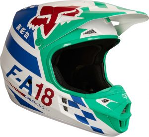 2018 Fox V1 YOUTH Sayak Helmet Green