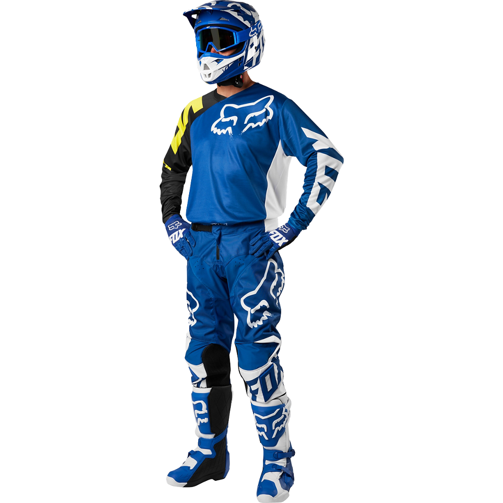 2018 fox 180 youth race kit combo blue 2018 fox youth mx kit. Black Bedroom Furniture Sets. Home Design Ideas