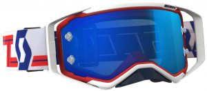 2018 Scott Prospect Goggle Red/White – Electric Blue Chrome Lens