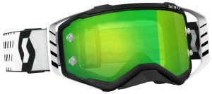 2018 Scott Prospect Goggle Black/White – Green Chrome Lens