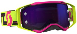 2018 Scott Prospect Goggle Pink/Yellow – Purple Chrome Lens