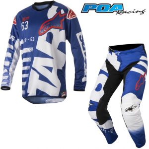 2018 Alpinestars Racer Braap Kit Combo Blue/White/Red