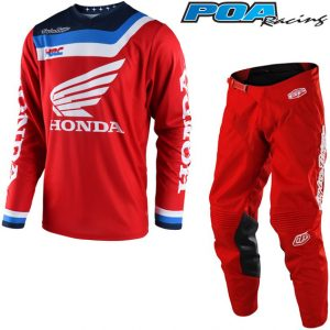2018 Troy Lee GP Air Prisma Team Honda Kit Combo Red