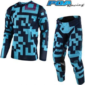 2018 Troy Lee YOUTH GP Air Maze Kit Combo Turquoise/Navy